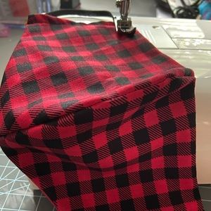Red Plaid Mask